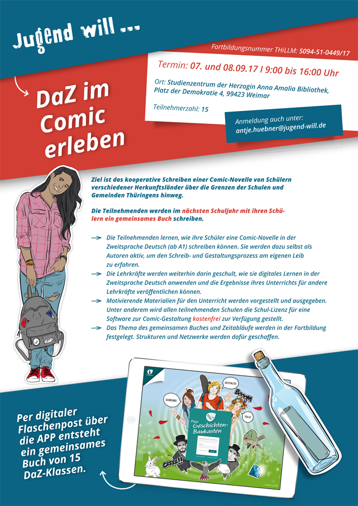 DaZ im Comic erleben_Vorankündigung für den 07.-08.09